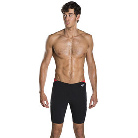 speedo Boom Splice Jammer Men Black/White/Lava Red